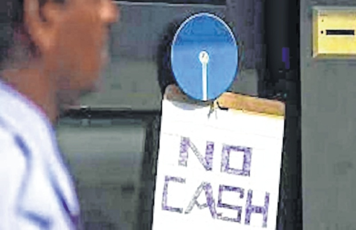 No cash ATMs in financial hub