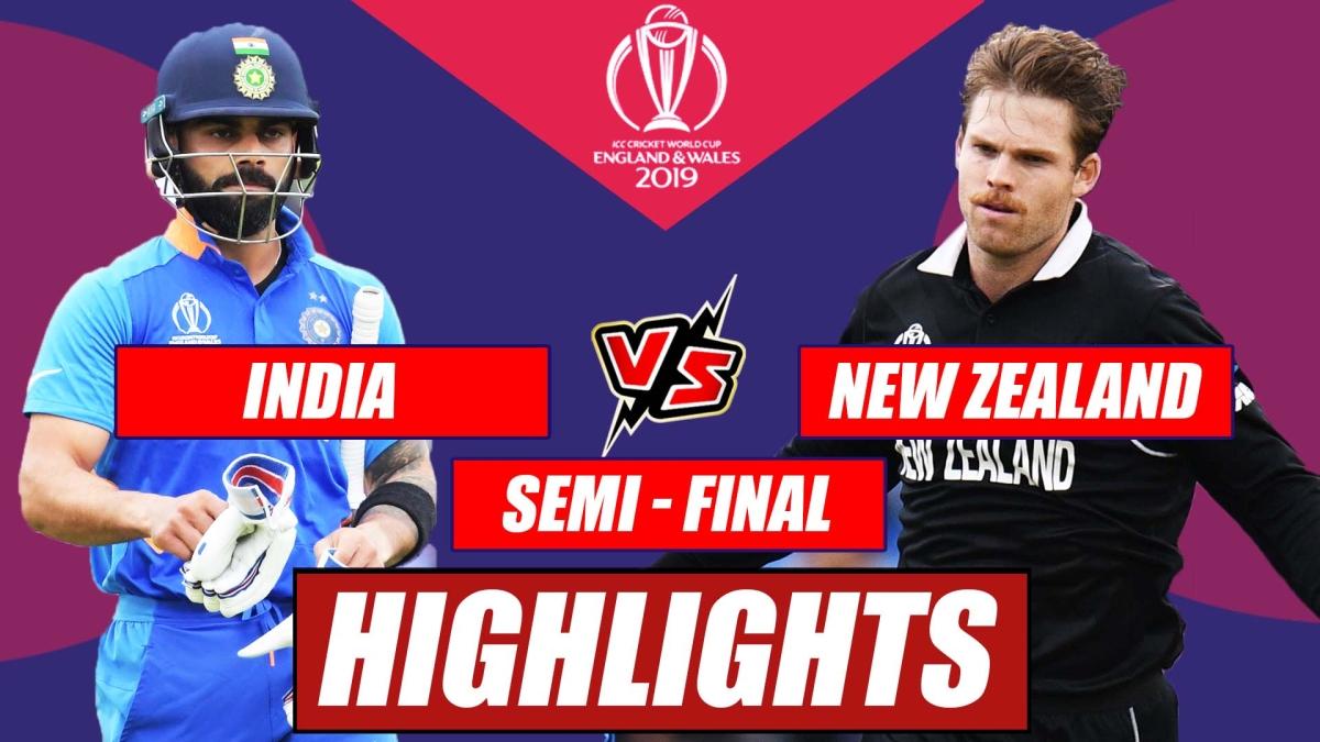 India vs New Zealand – Semi Final Match Highlights | Dark Horse New Zealand End India's Campaign
