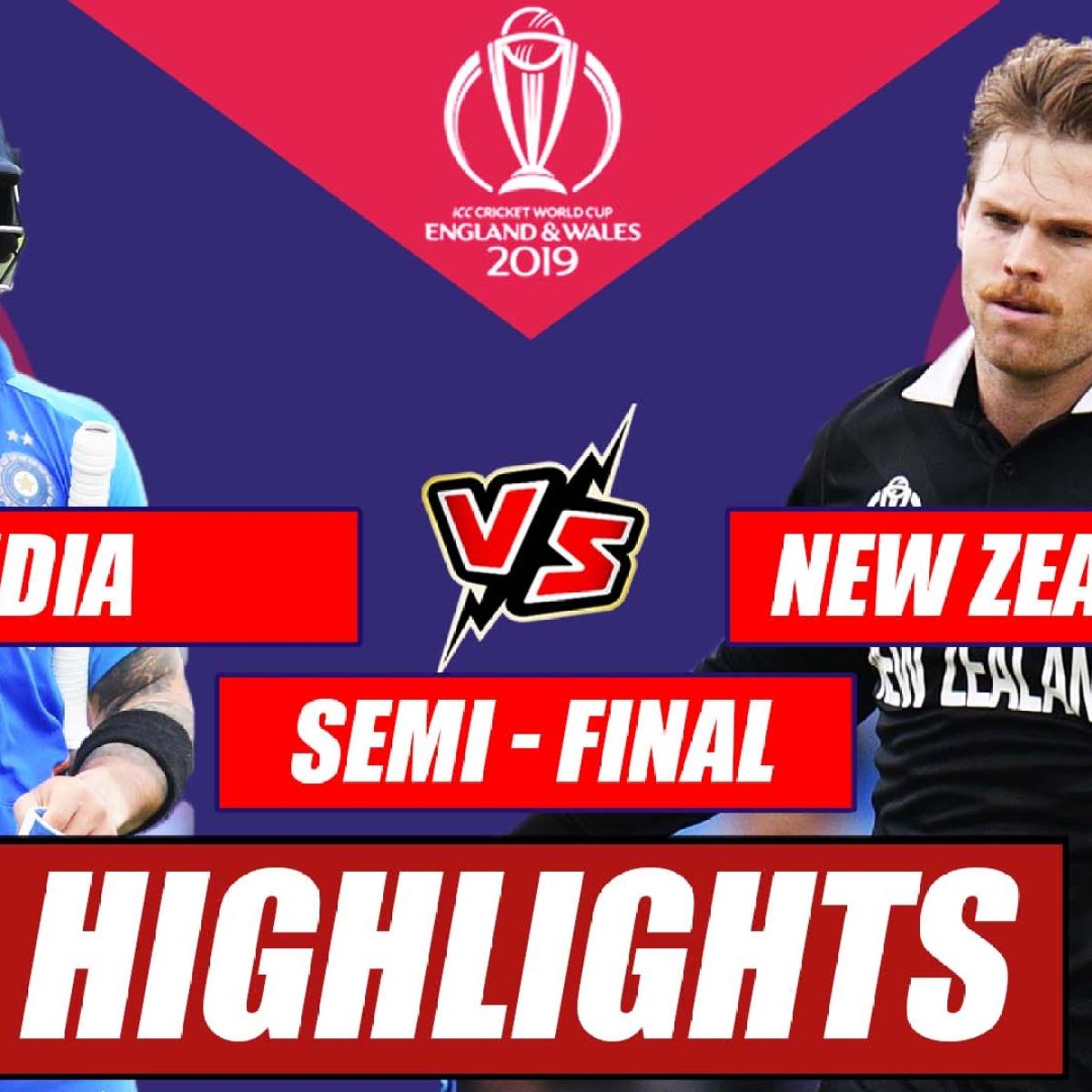 India vs New Zealand – Semi Final Match Highlights   Dark Horse New Zealand End India's Campaign