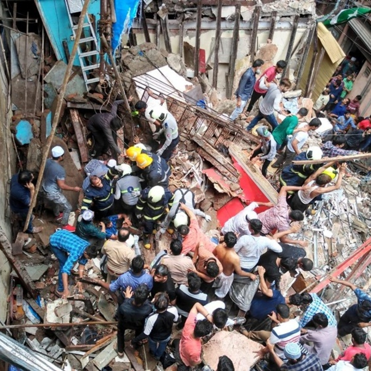 Mumbai building collapse: 10 killed, over 40 feared trapped as building collapses in Dongri