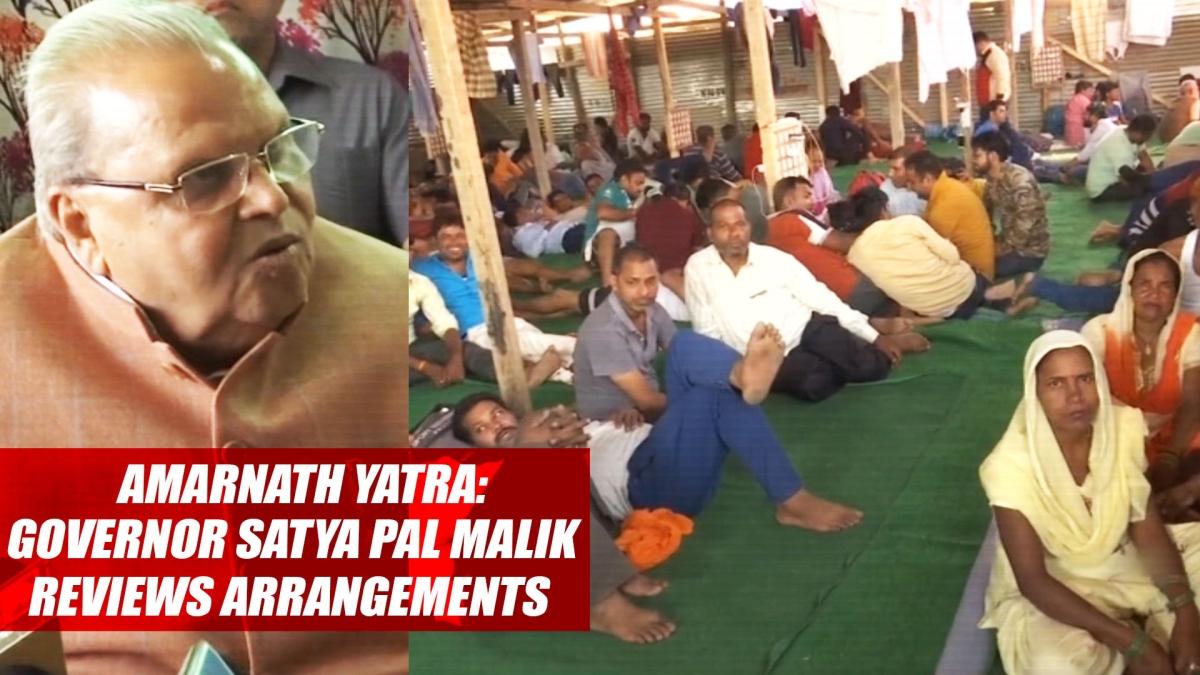 Amarnath Yatra: Governor Satya Pal Malik Reviews Arrangements In Srinagar