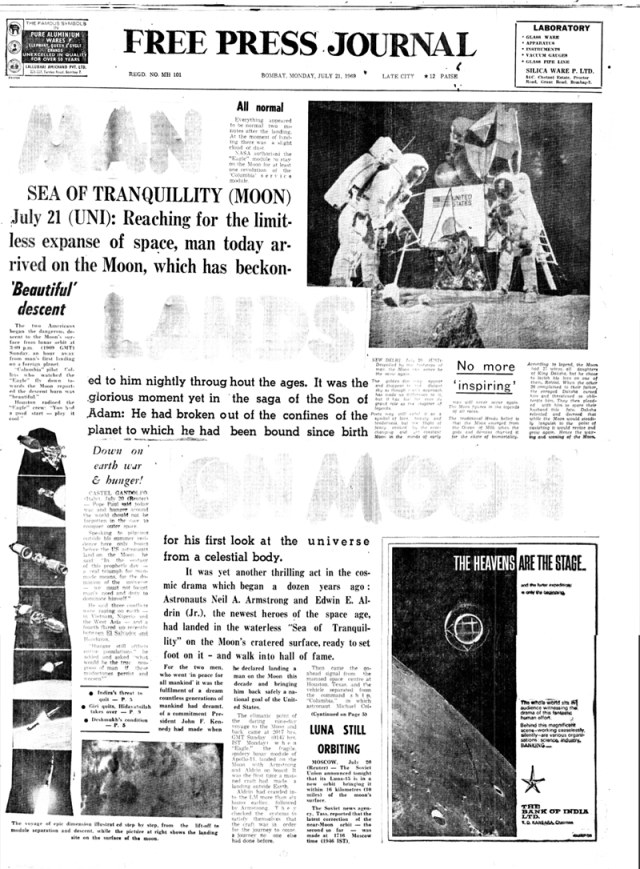 50 years of Neil Armstrong's moon landing, read FPJ's original coverage