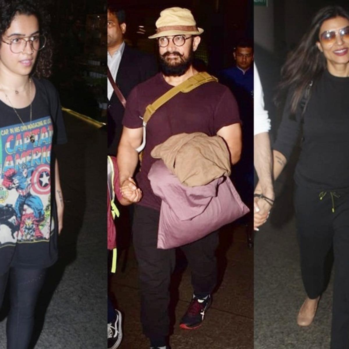 Clicked! Aamir Khan, Sushmita Sen, Sanya Malhotra and more snapped around the city