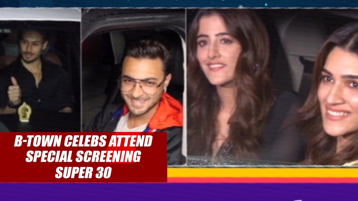 B-town celebs attend special screening of 'Super 30'