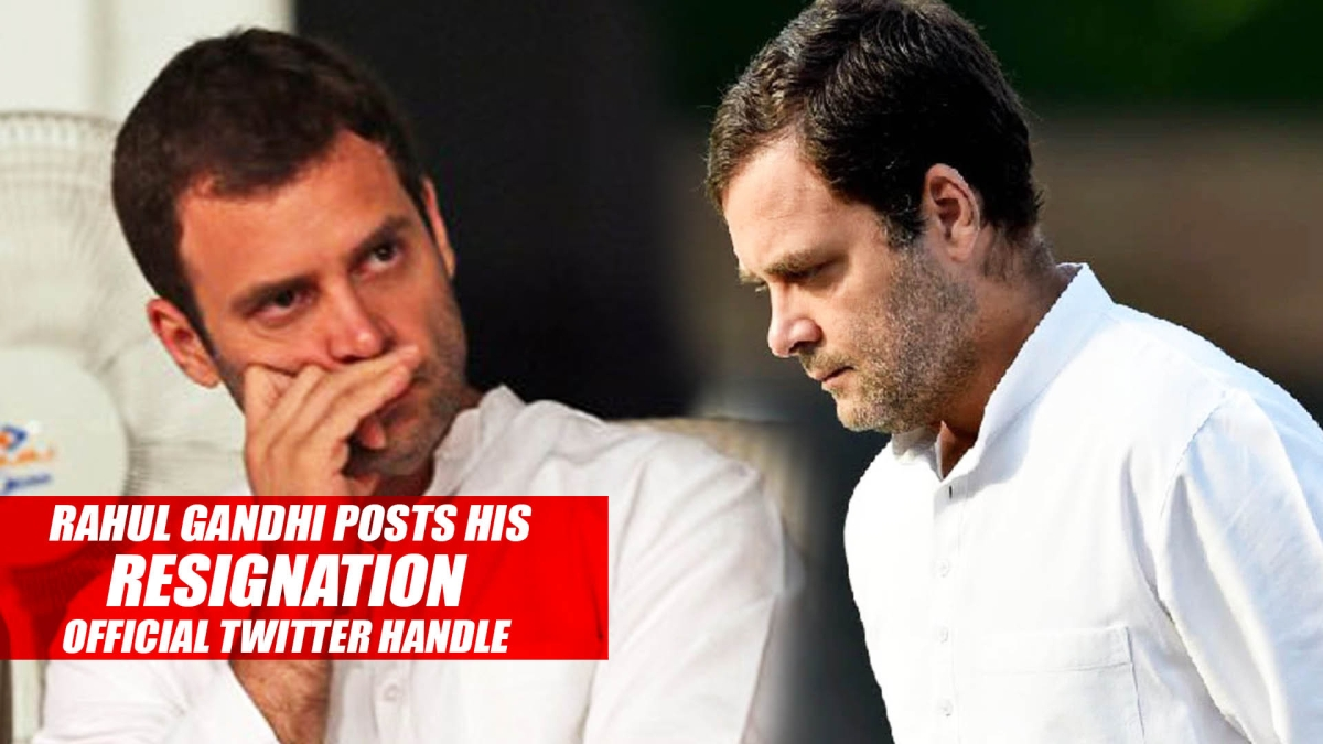 Rahul Gandhi Posts His Resignation On Official Twitter Handle