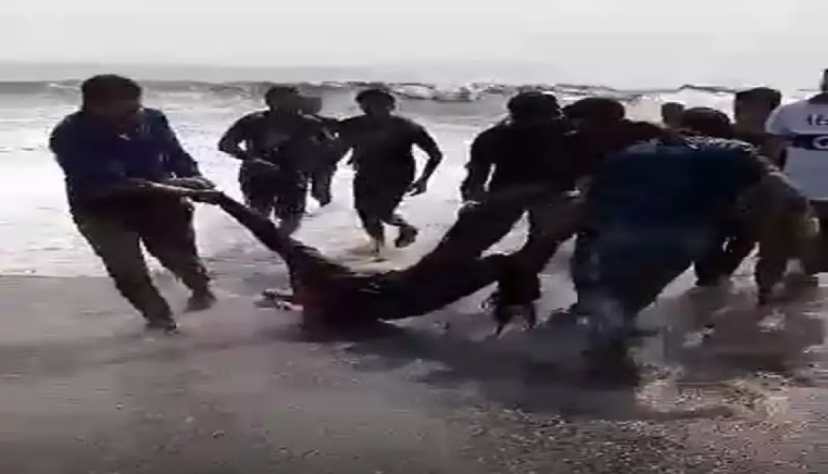 Unknown woman rescued from drowning at Virar beach by local fishermen