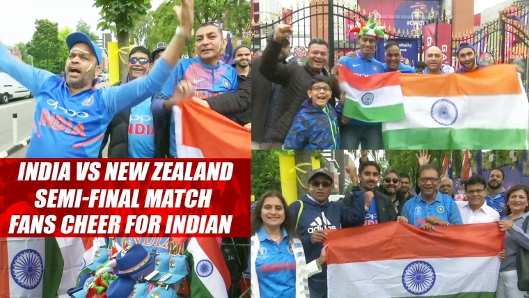 Live-India vs New Zealand Semi-Final Match | Fans cheer for Indian cricket team in Manchester #CWC19