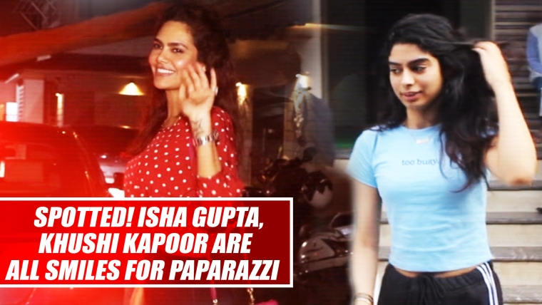 Spotted! Stunning Isha Gupta, Beautifull Khushi Kapoor Are All Smiles For Paparazzi