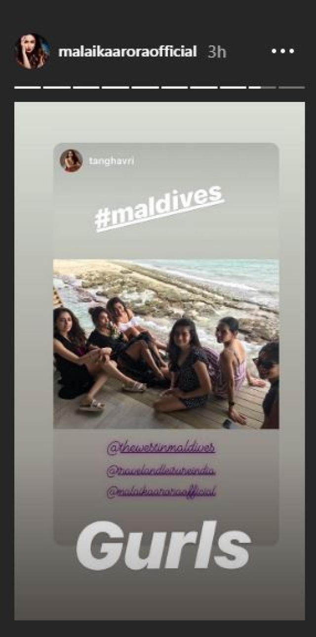 Malaika Arora heads to Maldives again with the girl gang; shares clips from the lavish trip