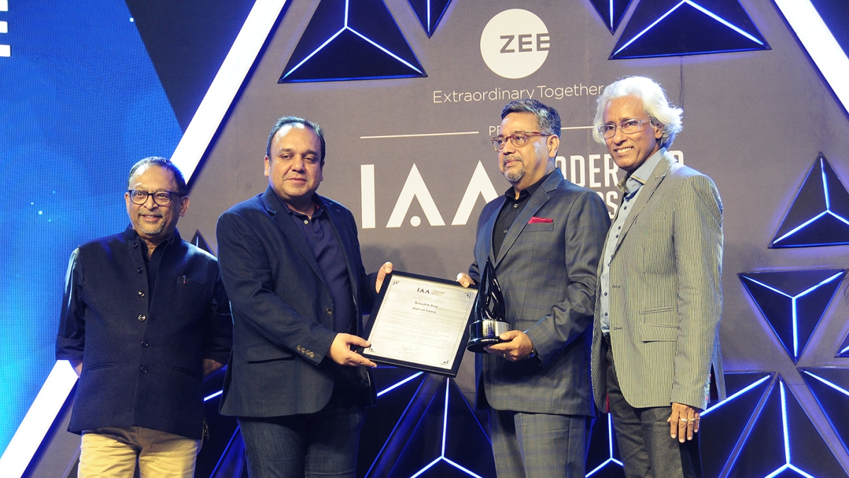 (Left to Right) Pradeep Guha, MD, 9x Media Pvt. Ltd; Punit Goenka, President, IAA India, MD and CEO,  ZEE Entertainment Enterprises Ltd; Kaushik Roy, President Brand Strategy and Marketing Communication,  Reliance Industries Limited; Bhaskar Das, Group President, Republic TV, Co-Chairperson of IAA Leadership