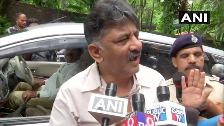 Karnataka crisis: Shivakumar arrives in Mumbai to meet rebel MLAs, says 'born together in politics, will die together'
