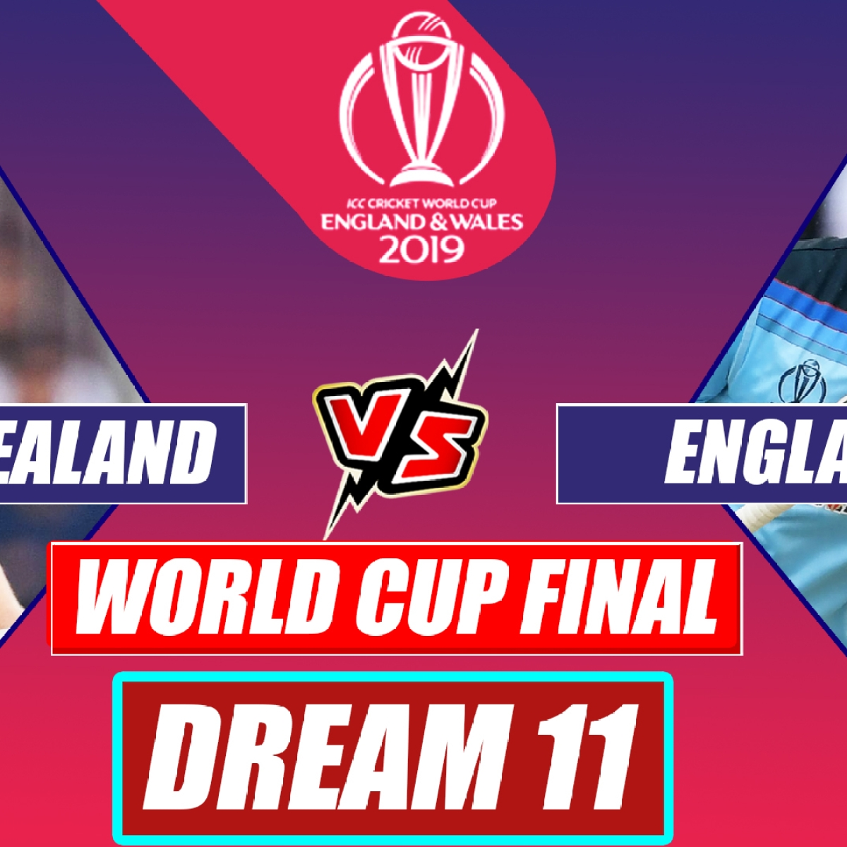 New Zealand vs England CWC 2019 Final Match : Playing XI, Dream XI Prediction For NZ And ENG