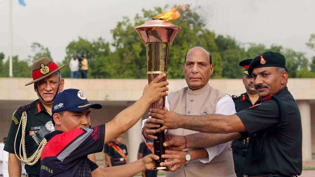 20th anniversary of 'Operation Vijay': Rajnath Singh ignites 'victory flame'