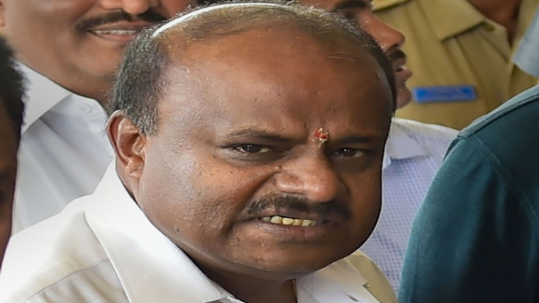 HD Kumaraswamy presents 'fake' resignation letter in House, says discussion should continue