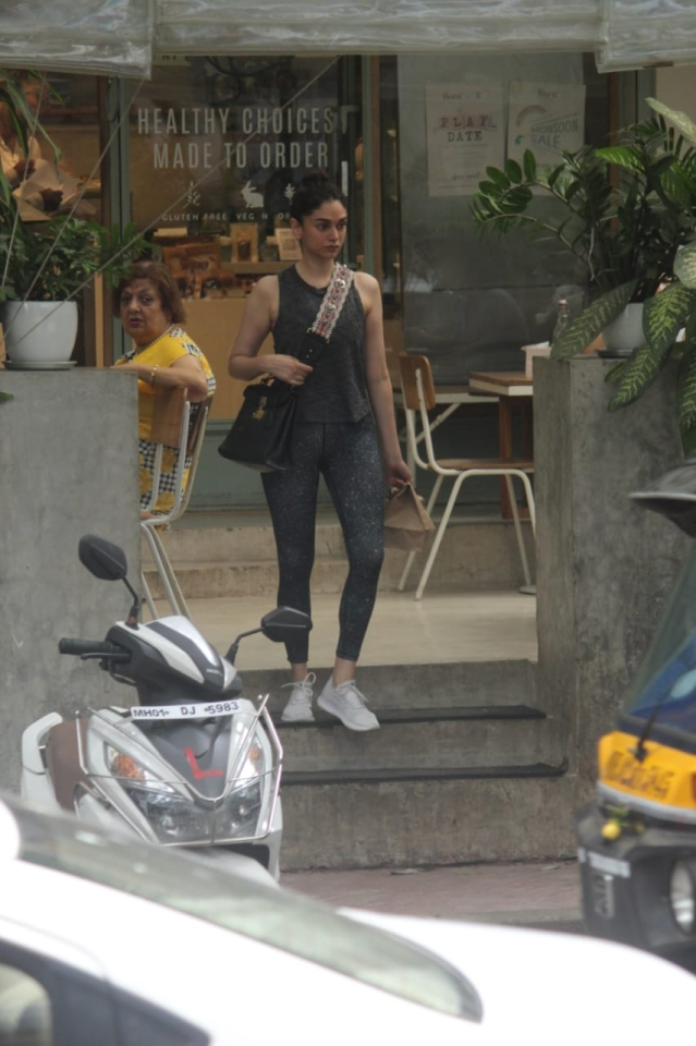 Aditi Rao Hydari  spotted at Kitchen Garden in Bandra.