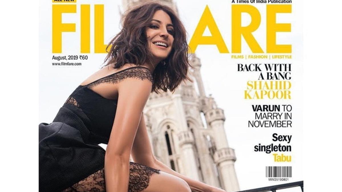 Anushka Sharma steals hearts in black slit dress on latest magazine cover