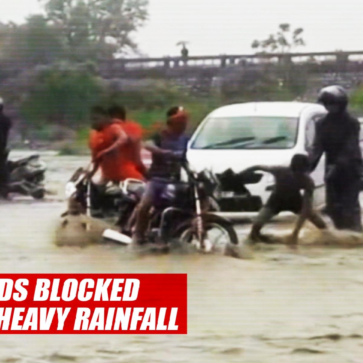 Roads Blocked Due To Heavy Rainfall In Rishikesh