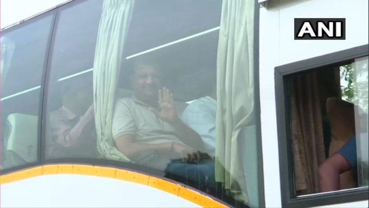 Gujarat: On day of Rajya Sabha polls, Congress MLAs leave for Gandhinagar
