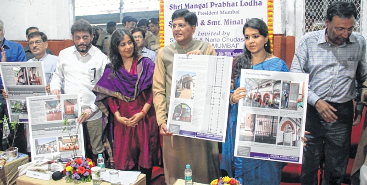 Piyush Goyal launches Byculla railway station restoration project