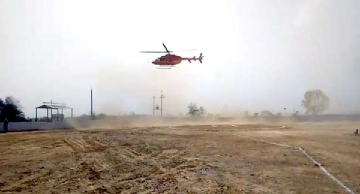 Chopper scare for Alwar MP