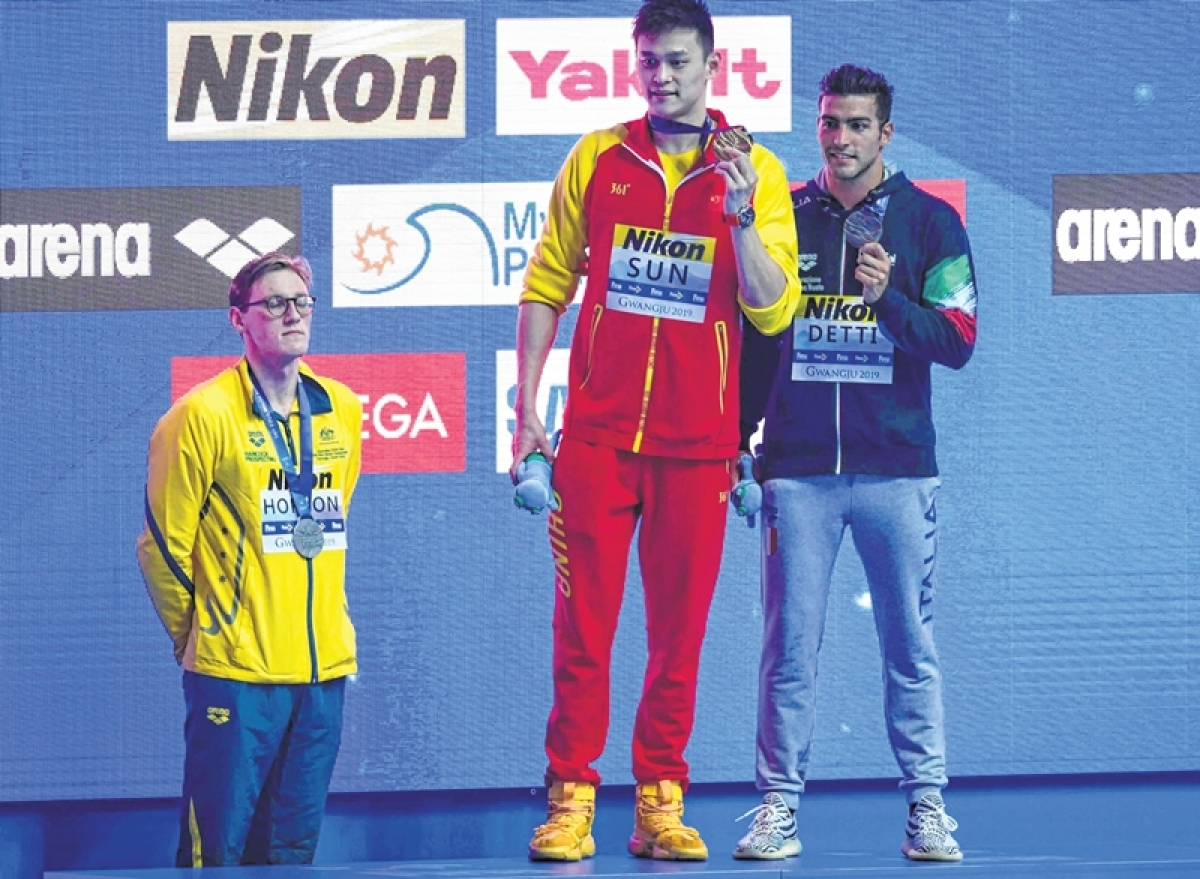 World championship swimmer: Doping row boils under water