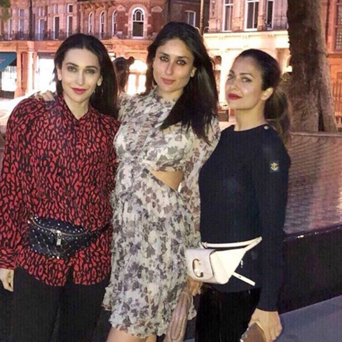 Glamorous trio Karisma Kapoor, Kareena Kapoor, Amrita Arora relish their London vacay