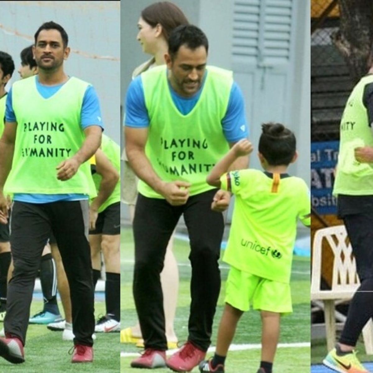 Watch MS Dhoni play football with daughter Ziva, Arjun Kapoor and other kids in Mumbai