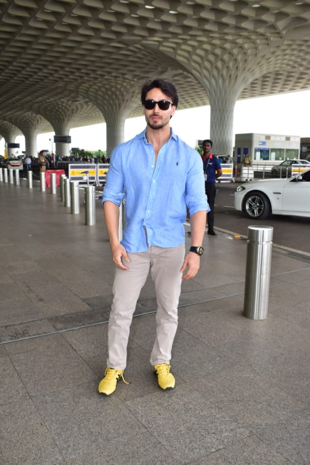 Tiger Shroff snapped at Mumbai airport today.