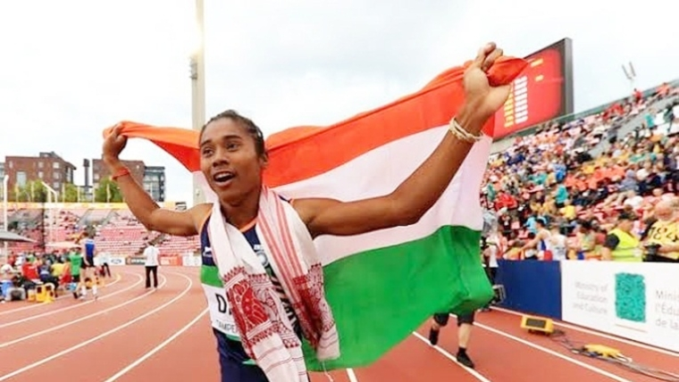 Bollywood congratulates 'supergirl' Hima Das for achieving 5 gold medals