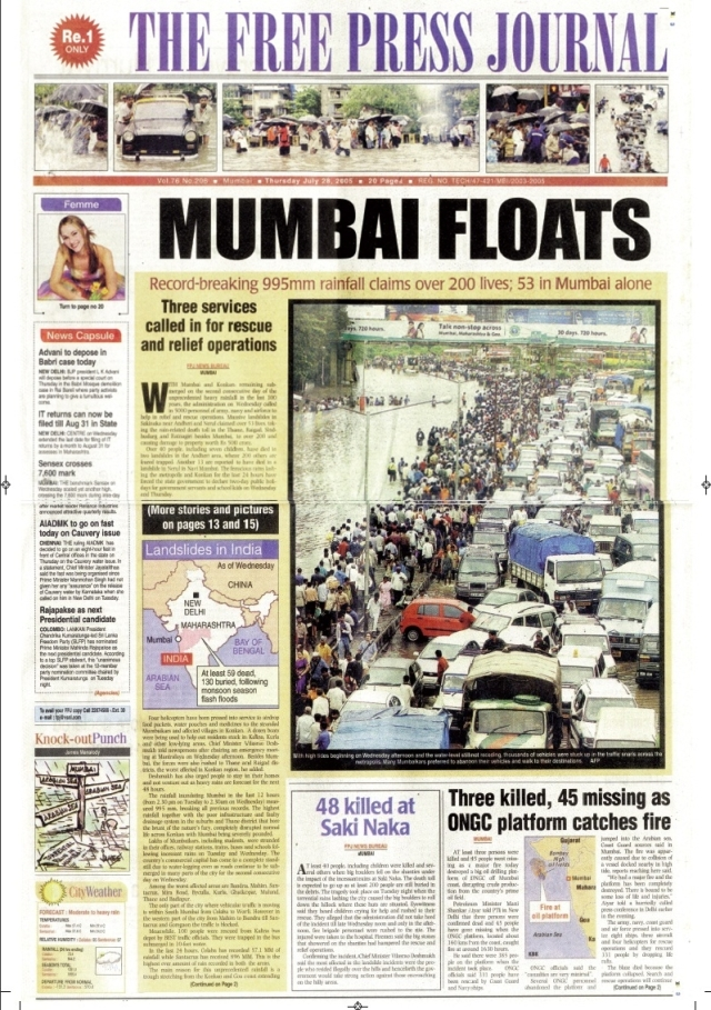 July 26 Mumbai floods: Throwback to the day that brought Mumbai to a