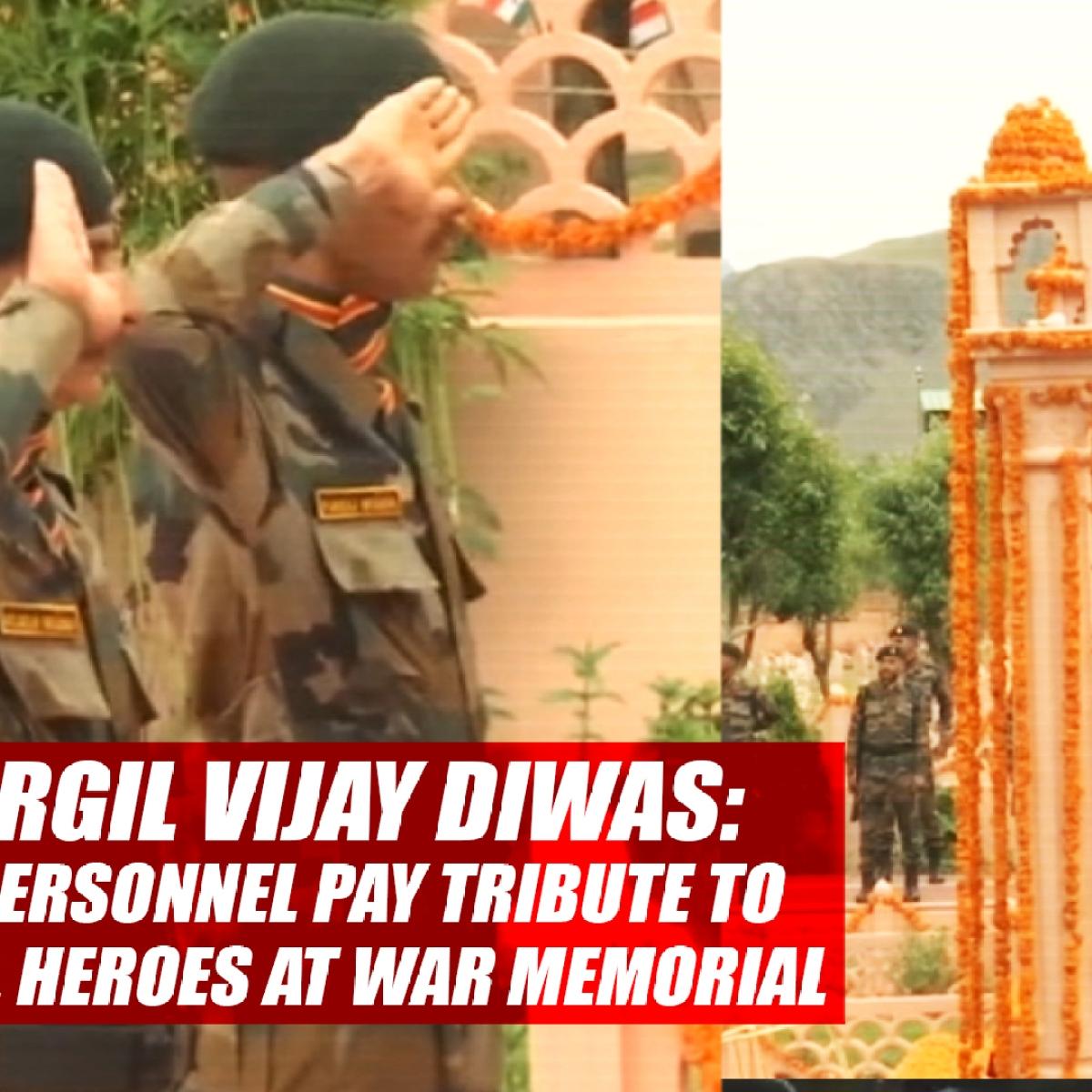 #KargilVijayDiwas: BSF Personnel Pay Tribute To Kargil Heroes At War Memorial