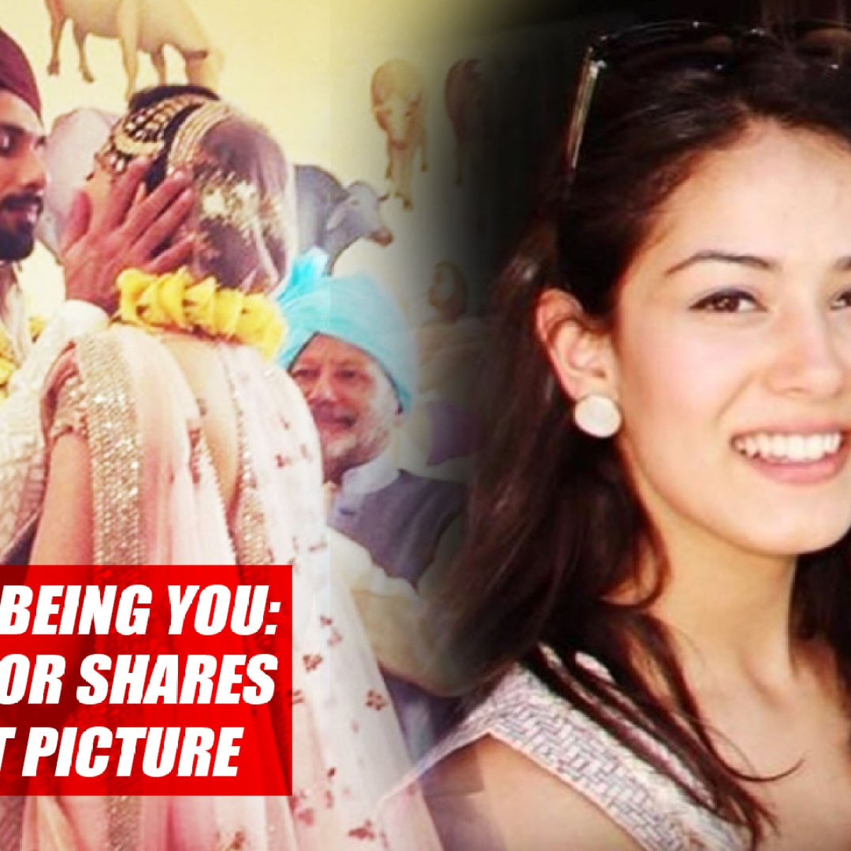 Thanks For Being You: Shahid Kapoor Shares Mira's First Picture On His Phone