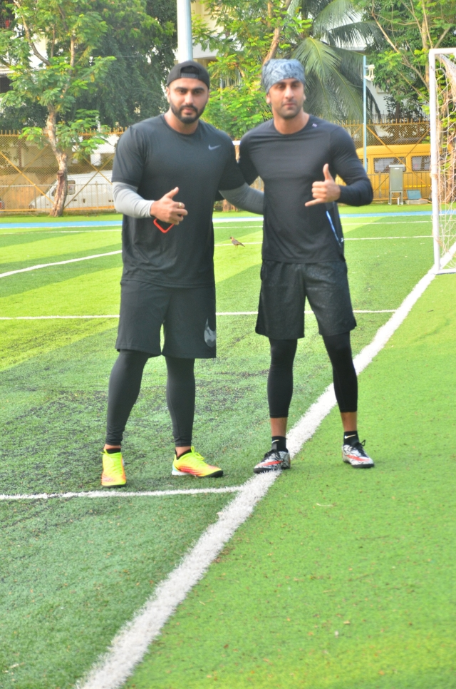 It was a game day for Arjun Kapoor and Ranbir Kapoor as this duo spotted by paps playing Football match.