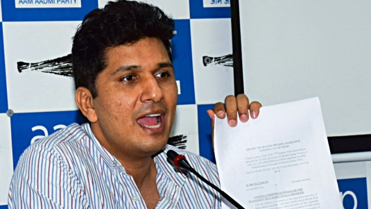 Chief spokesperson of AAP, Saurabh Bharadwaj