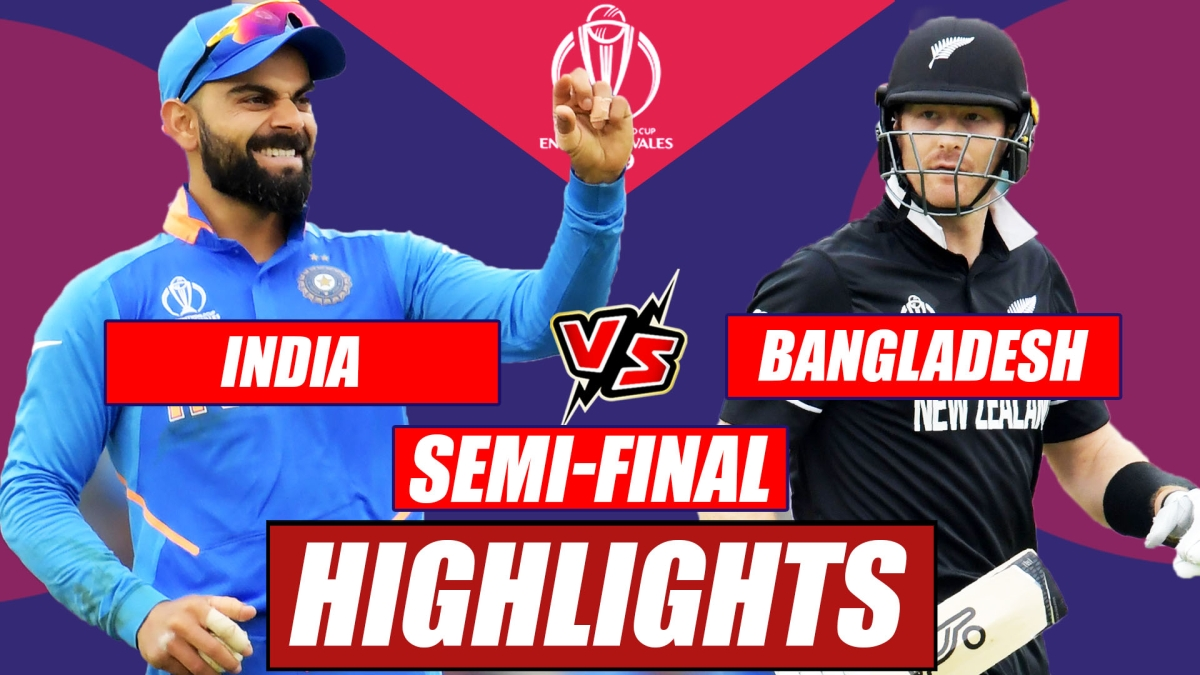 India vs New Zealand World Cup 2019 Semi-Final At Manchester   Match Highlights So Far
