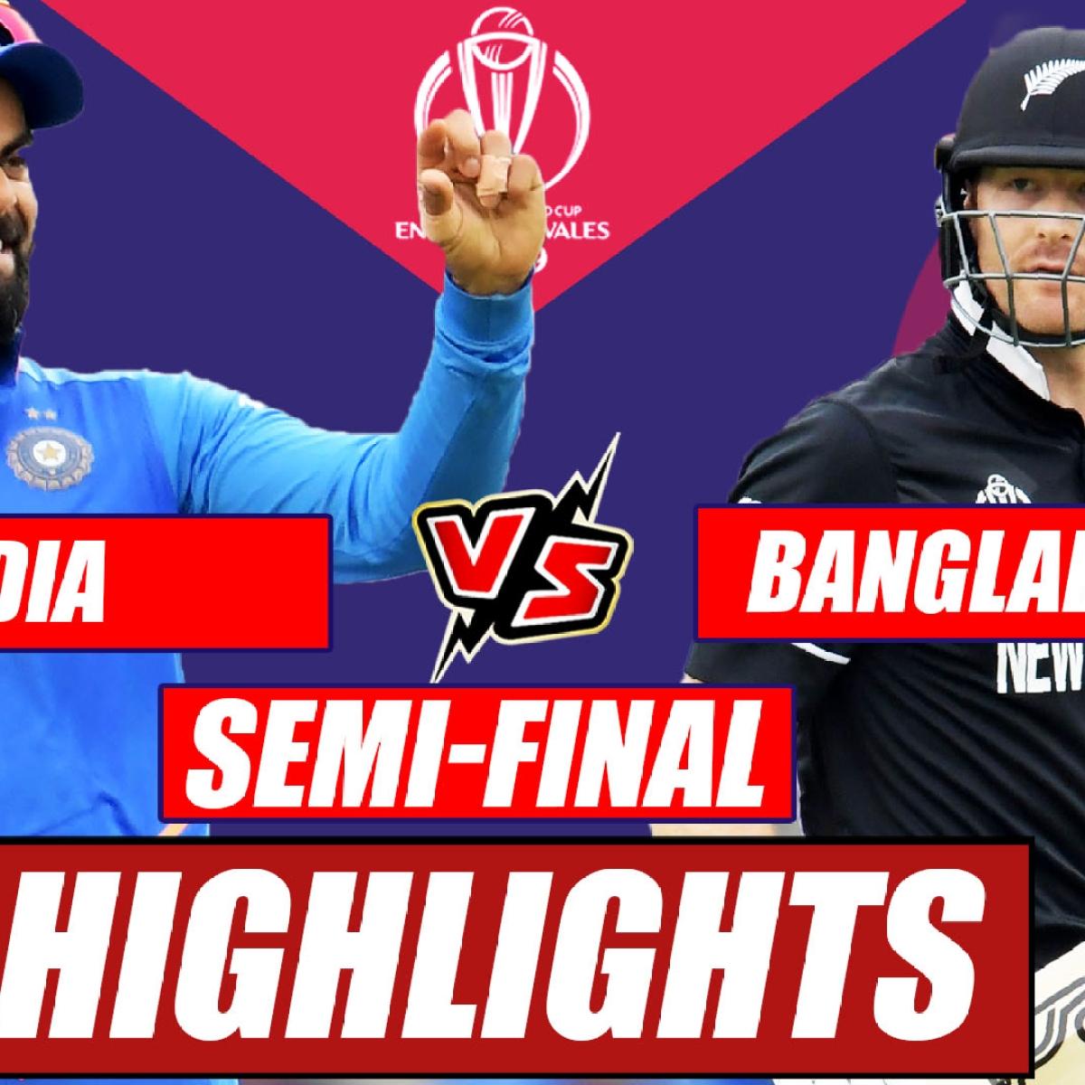 India vs New Zealand World Cup 2019 Semi-Final At Manchester | Match Highlights So Far