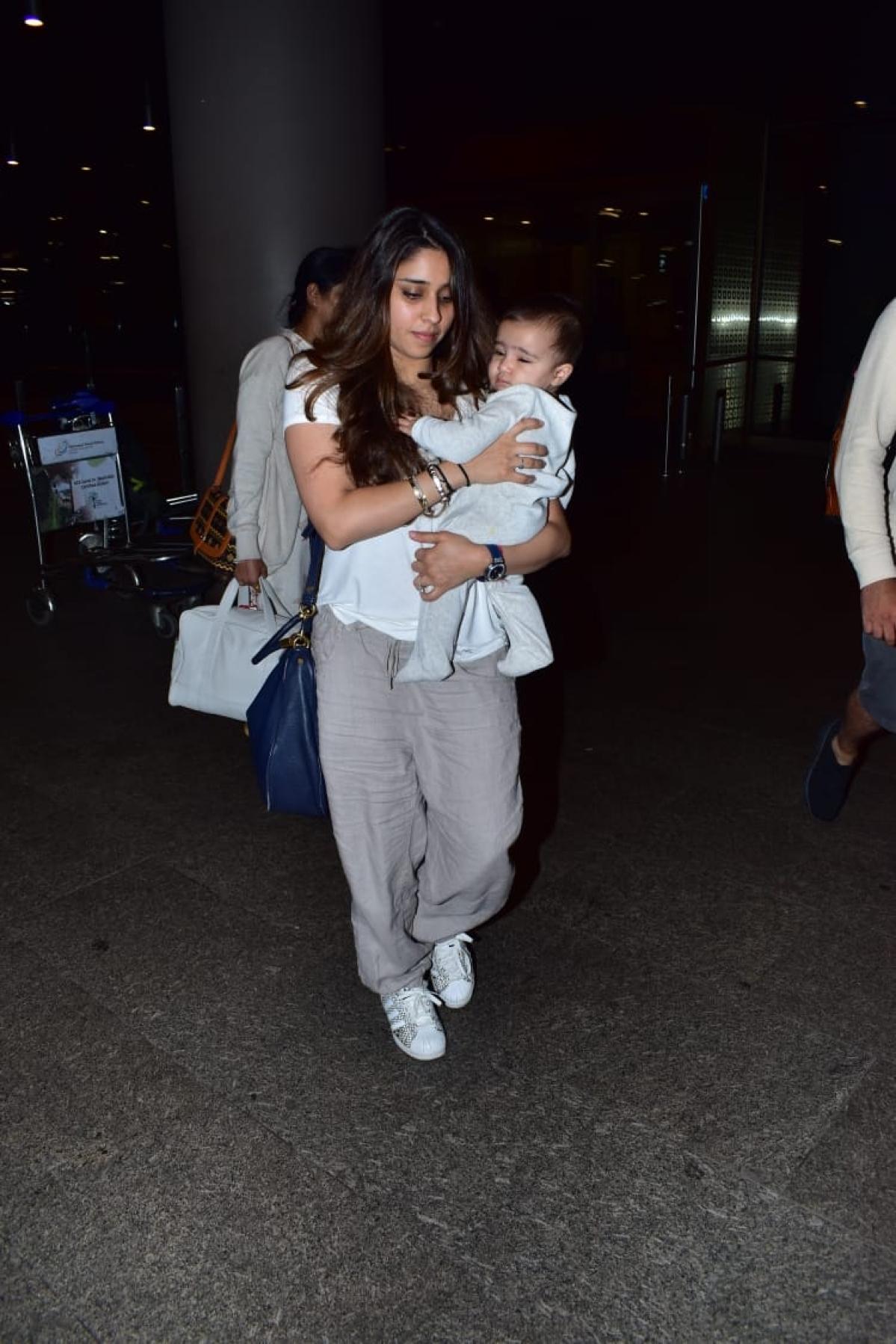 Ritika Sajdeh Sharma and baby Samaira