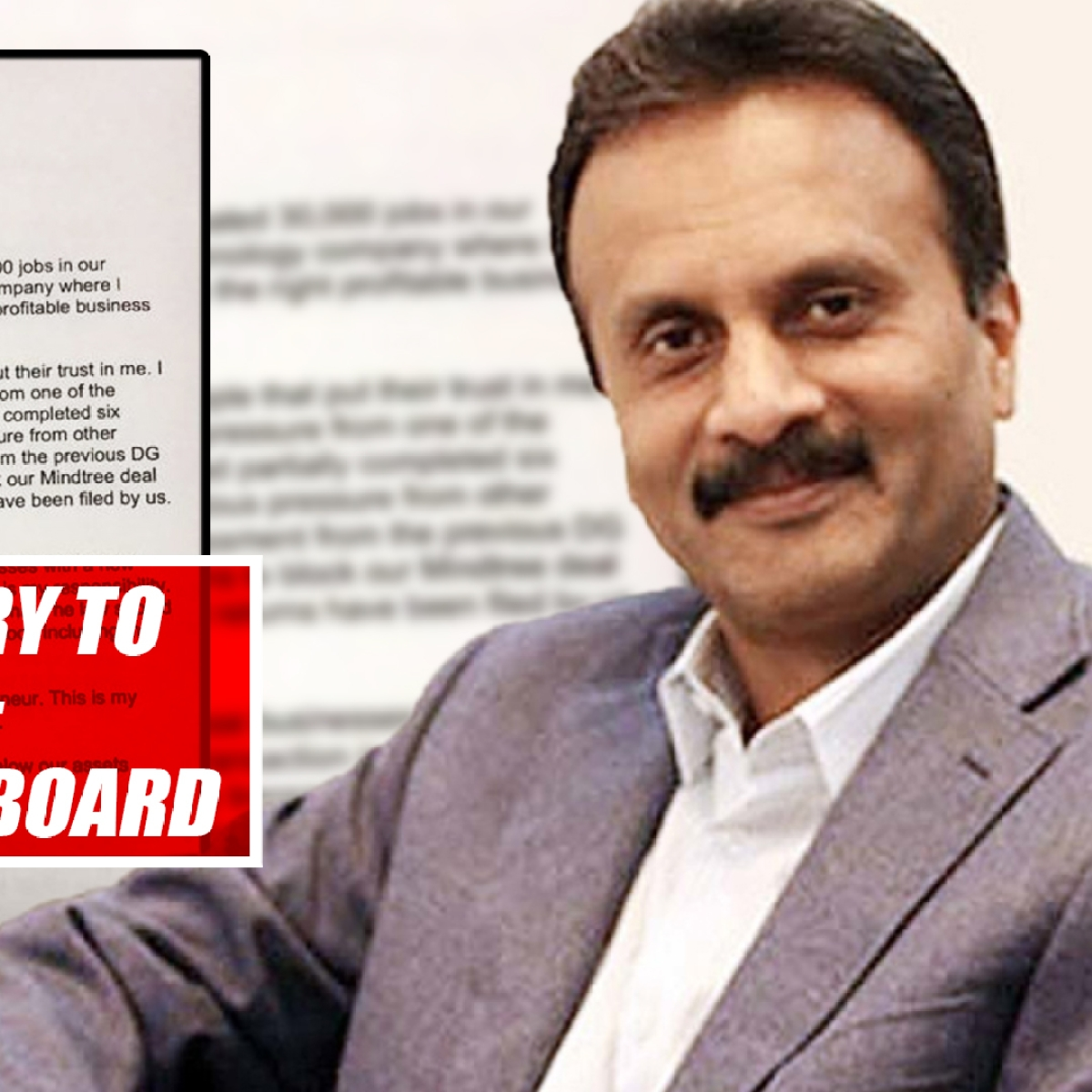 CCD owner VG Siddhartha's Letter To Board: I Gave It My All, Sorry To Let Down People