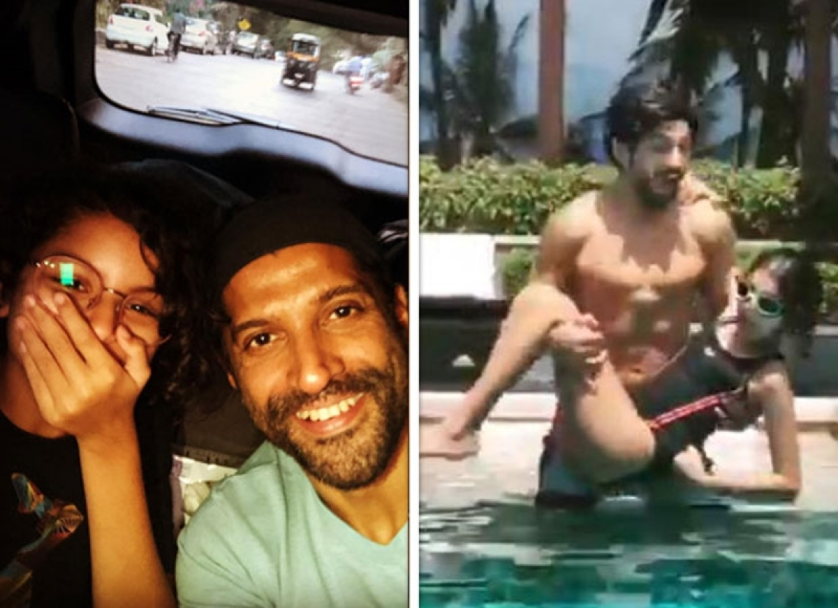 Farhan Akhtar chills at the pool with daughter Akira and its all things fun