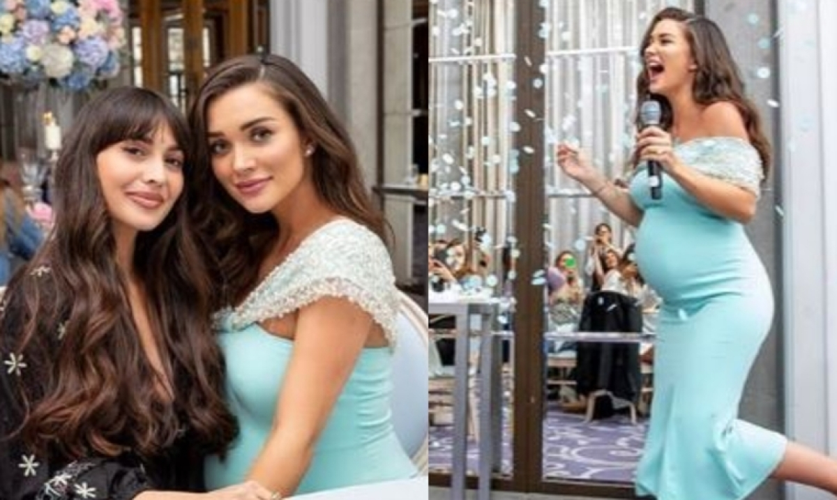 Amy Jackson celebrates a very Blue Baby Shower, reveals baby's name