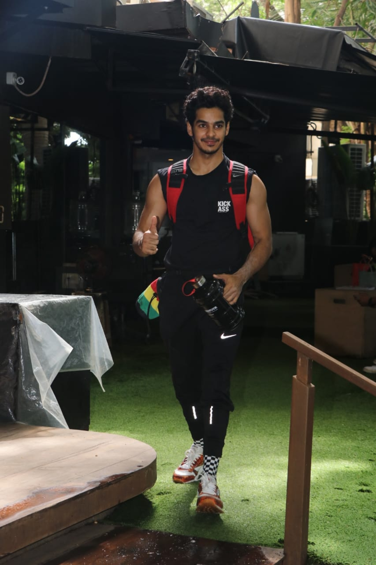 Ishaan Khattar spotted at gym in Bandra