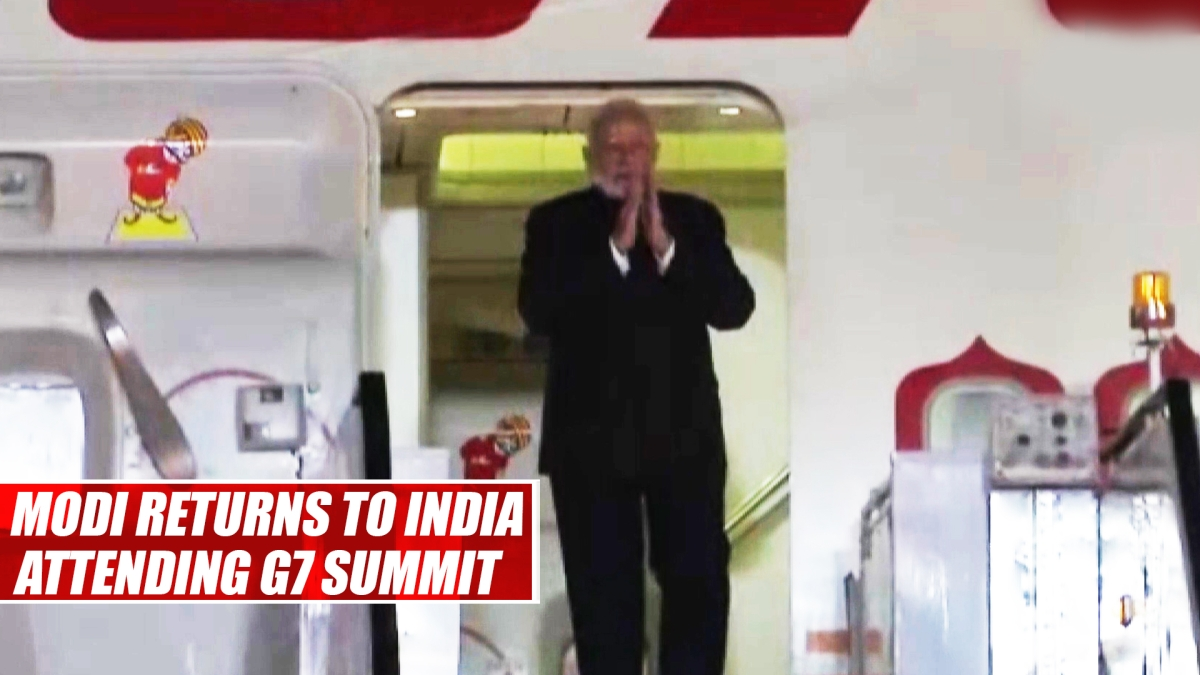 PM Narendra Modi Returns To India After Attending G7 Summit