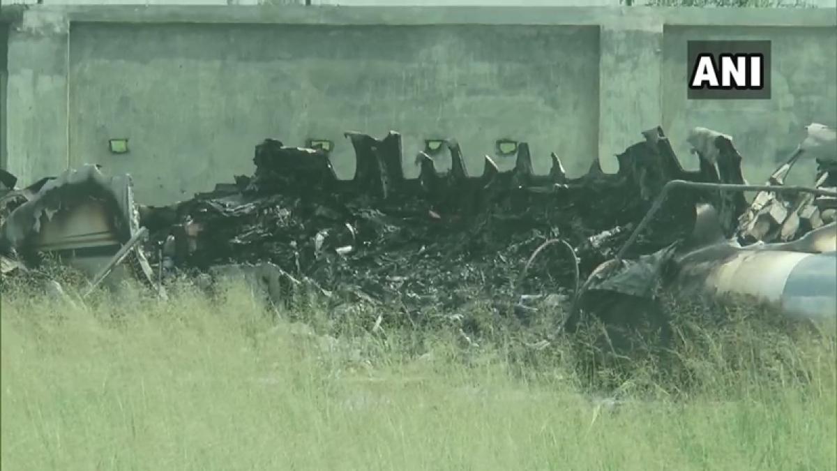 Aircraft crashes in Aligarh, crew make narrow escape