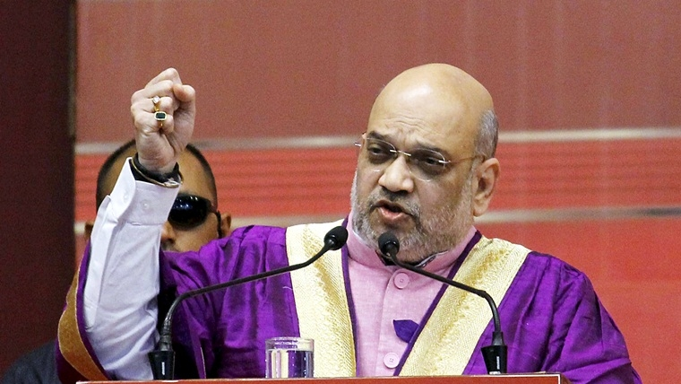"PM Narendra Modi made Kashmir inseparable part of India in ""one go"": Amit Shah"