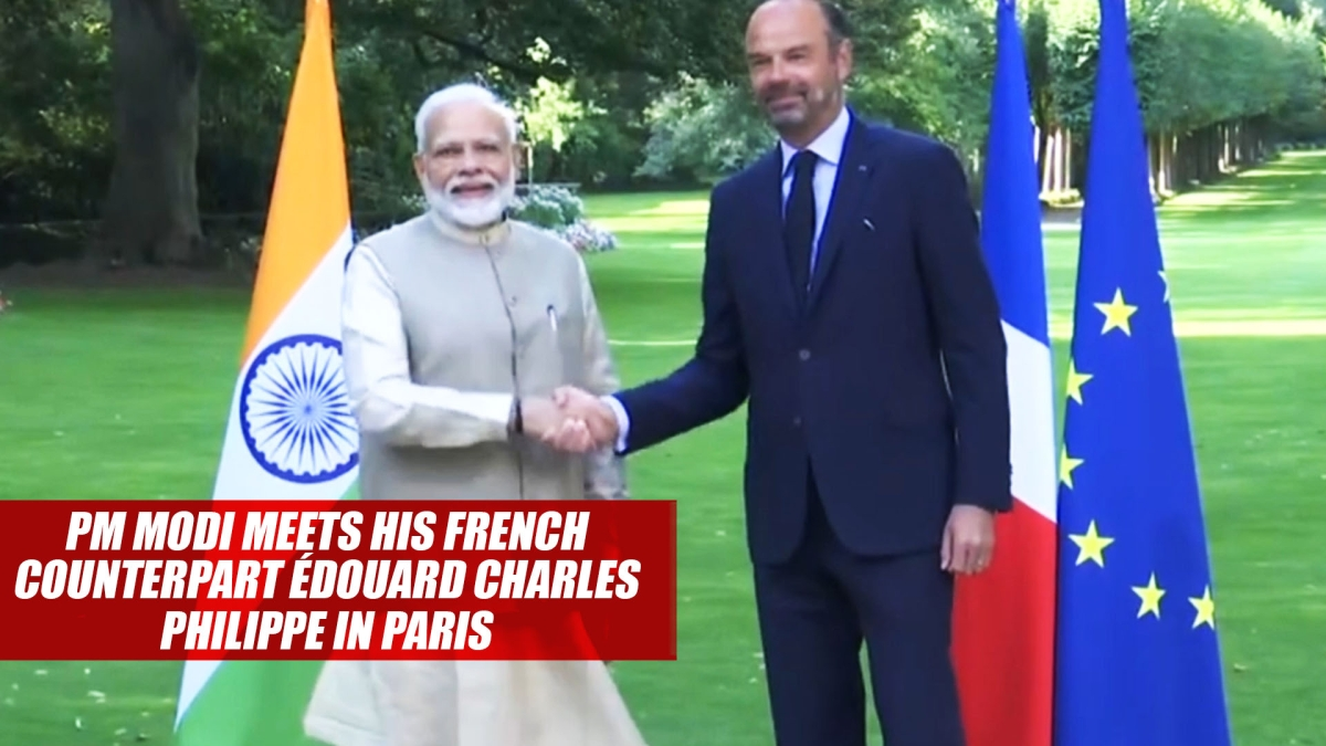PM Modi Meets His French Counterpart Edouard Charles Philippe In Paris
