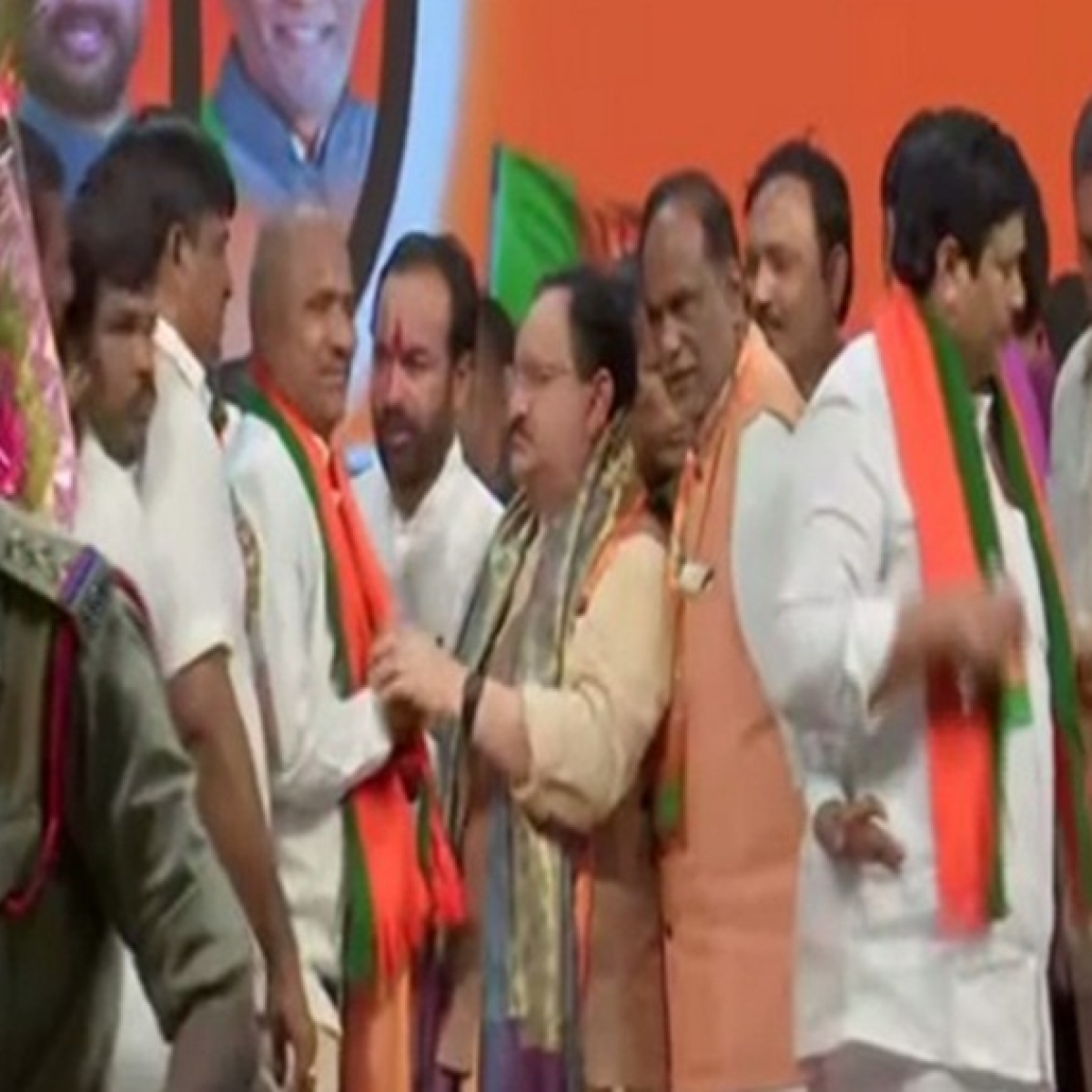 Telangana: Around 60 prominent TDP leaders join BJP in presence of JP Nadda