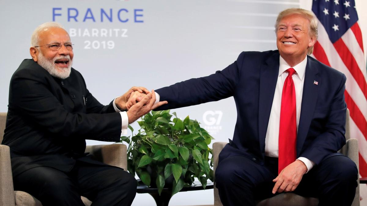 U.S. President Donald Trump meets Indian Prime Minister Narendra Modi