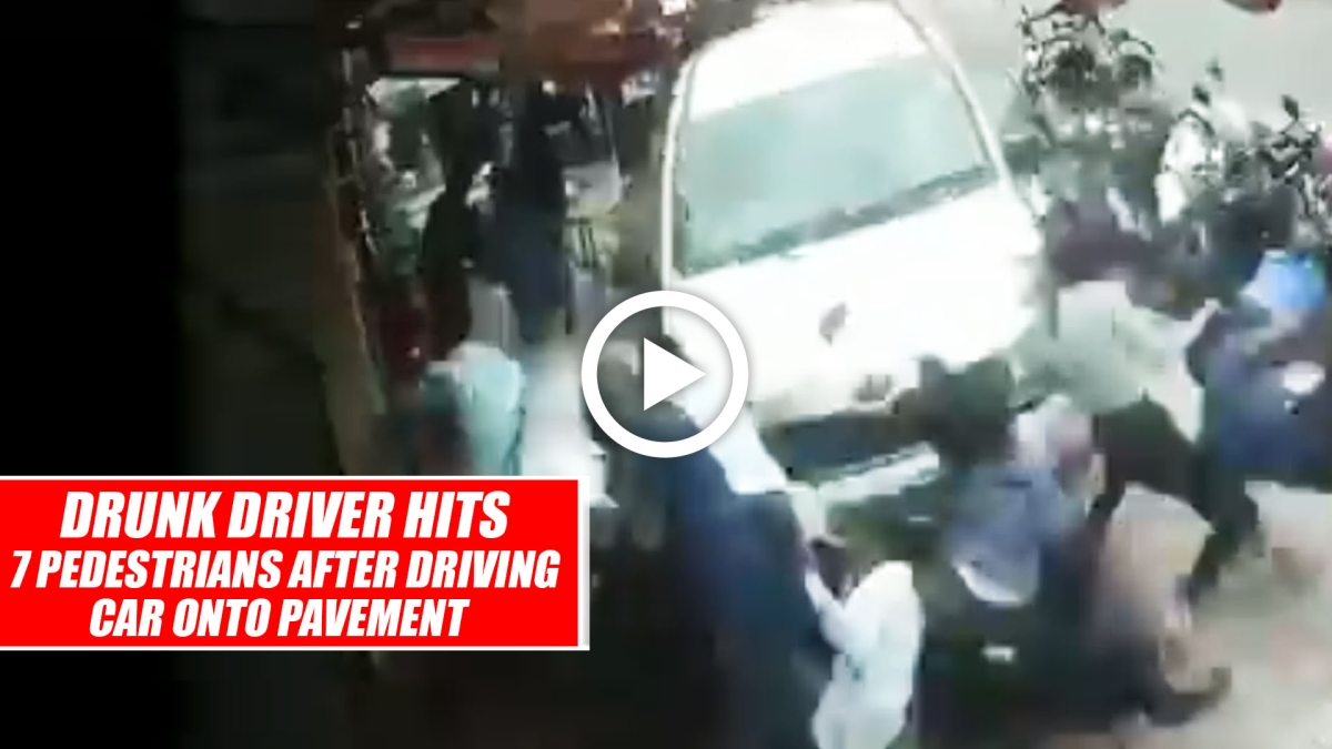 Bengaluru: Drunk Driver Hits 7 Pedestrians After Driving Car Onto Pavement