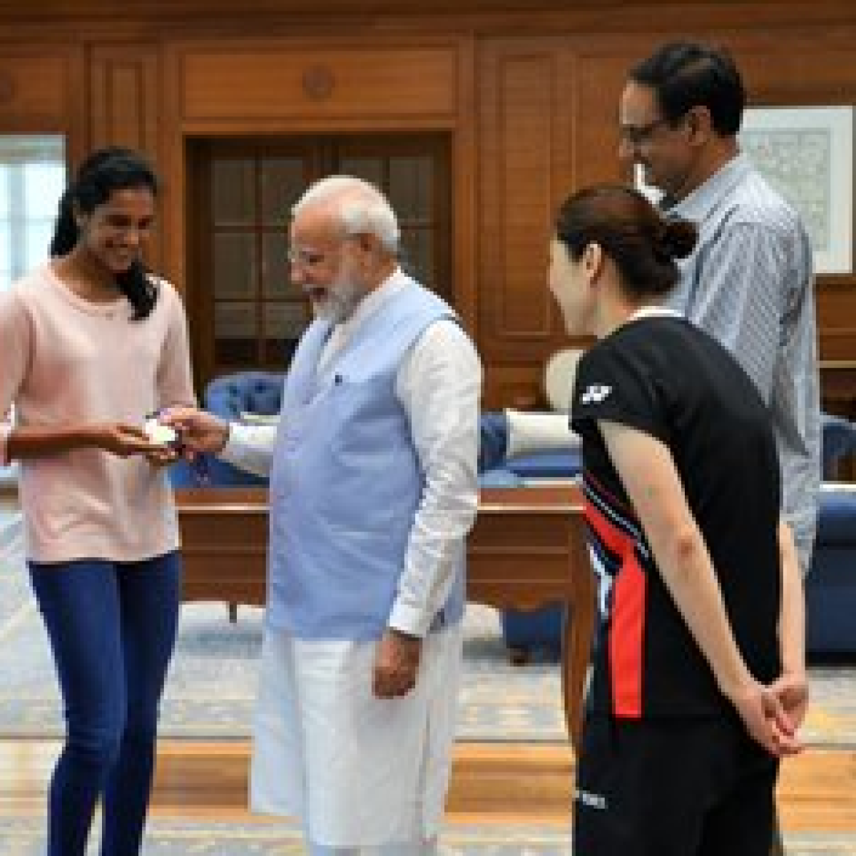PM Modi meets world Badminton champion P.V Sindhu, calls her 'India's pride'