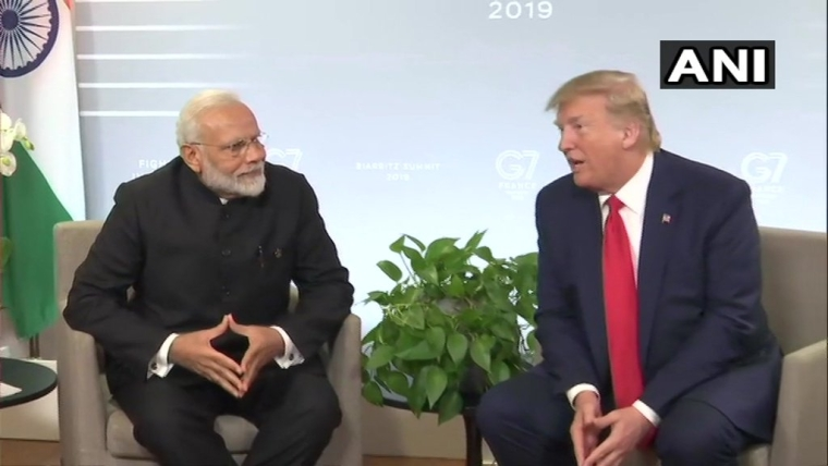 PM Modi and Donald Trump speak on the sidelines of the G7 Summit